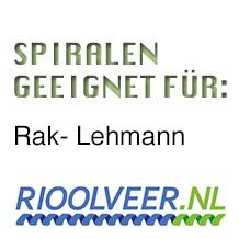 'Rioolveer' Spiralen geeignet für RAK-Lehmann