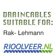 'Rioolveer' draincables suitable for RAK-Lehmann